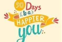 90 Days To A Happier You / Through this series Live Happy experts tackle life-changing topics such as improving communication with others, managing negative thinking, overcoming chronic insomnia, setting life goals and learning to unplug from work.