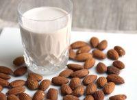 Almond Milk / Almond milks of all sorts; other milks, too.