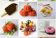 Crochet. Foods.