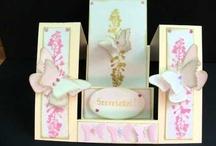 Card with flowers / Kézzel készített képeslapok