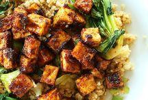 Crispy tofu stir fry.