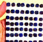 Natural Blue Color Coated Druzy 11mm Cushion Loose Gemstone