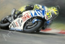 MOTORSPORTING ARTWORK / We have created this board to showcase not only the artists whom we represent, who are talented artists or sports photographers, but equally as important as a tribute to those 'BRAVE' motorbike & Car riders / drivers & their machines.