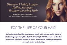 Monat Hair Care / Our products have been scientifically proven (and validated) to increase hair growth, replace hair loss, protect hair from environmental toxins, and maintain a youthful appearance. We guarantee longer, fuller, stronger, younger-looking hair in 90 days!  For information email info.hairsolution101@gmail.com  or visit us at www.facebook.com/hairsolution101