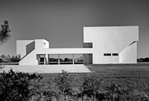 RM 1967 Hoffman House / RICHARD MEIER. 1967 - The David and Anita V. Hoffman House, 185 Georgica Road, East Hampton NY.  Commissioned 1966.  A 3000 square foot addition was designed in the mid 1990's by architects Peter Stamberg and Paul Aferiat.  Still owned by the Hoffmans as of 2009.  Bottom two photos by Ezra Stoller/ESTO.
