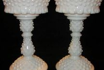 Fenton Glass / I love the different glass, this is hobnail glass