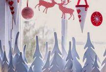 διακοσμηση χριστουγεννιατικη παραθυρα