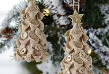 Burlap Christmas from decorations to trees