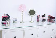 Rangements maquillage et déco / Mon coin fille : rangements maquillage, déco, bons plans, trucs et astuces !