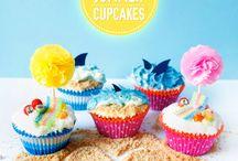Ocean/Beach Cupcakes / Cupcake Wars Assignment