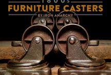 Antique Furniture Casters / Refurbished antique furniture casters from Iron Anarchy.
