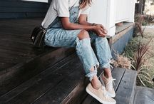 White T shirt and jeans