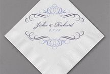 Personalized Napkins / Add the perfect finishing touch to your reception with these gorgeous, whimsical, and fun napkins available from Persnickety Invitation Studio