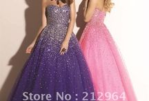 Swarovski Crystal Prom dressess / Let the rainbows fly from you as you dance and twirl.