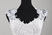 Wedding Dress Accessories / Add more coverage to your wedding dress with these jackets, boleros, caplet and sleeves. Rock a modest wedding look by adding a lace jacket to a strapless wedding dress.