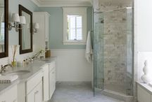 Love this bathroom!  Color is amazing / by Amy Arrigali