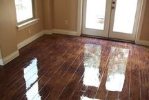 DIY floors- paint cement and wood