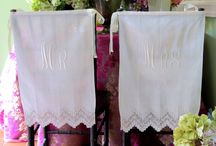 Mr. and Mrs. Chiavari Chair Backs / Wedding Reception Bride and Groom Chiavari chair Covers