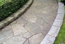 Stone and Brick Pathways / Ideas for Implementing Stone and Brick into your Backyard Entryway or Sideyard and Incorporating Petite Pebbles and Crushed Granite to Complete a Pathway