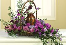 Flower basket arrangement