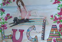 Posters personalizados / Si quieres decorar la habitación de tu hija-o con un póster personalizado o hacer un regalo original, aquí tienes algunos ejemplos. Contacta conmigo utilizando este correo: albapor1@gmail.com