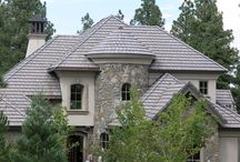Slate Roofing / Clean defined lines of an elegant slate roof can complement many different styles of architecture from colonial to victorian.  These roofs last for ages. Stone slate roofs, Lightweight concrete slate roofs