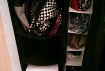 organizzazione scarpe borse