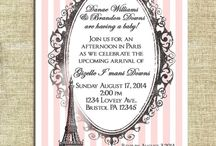 Nere baby shower / its a girl parisian shower