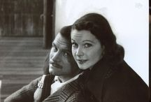 An irreplacable couple Laurence Olivier And Vivien Leigh / They were British acting royalty of the 20th century she is known for gone with the wind & he Shakespearean roles.They were drawn together when he was married to Jill Esmond and she was married to Leigh Holman. They were together for 20 years sharing a beautiful life and previous relationship children Suzanne and Tarquin. But Larry and Viv weren't meant to be after years of many films, affairs, miscarriages and her bi polar disorder. He left her for Joan Plowright and she married Jack Merivale.