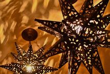 Punched Tin Moravian Star Lights / by Ann Robison