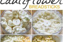 Keto cauliflower bread sticks