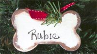 gift tags / ornaments / Plain or personalized customization. Your choice of pink, blue or holiday ribbon.   $5.00 per ornament.  Shipping costs:  $1.00 per item