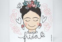 Frida para pintar