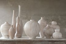 Ceramics Collections / Decorative ceramic objects, inspired by archaic shapes and crafted by master potters in Tuscany, Italy.