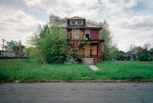 """DETROIT // A modern ghost town / """"100 seemed like a lot, although the number of abandoned houses in Detroit is more like 12,000."""""""