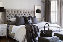 Home Design Ideas / White, gray and black bedroom ideas