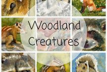 Woodland Creature Collection / woodland creatures | woodland animals | animal art to decorate nursery and kids rooms