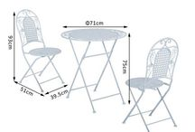 Gaden Set Metal Outdoor Home Furniture Patio House White Bistro Set Table Chairs