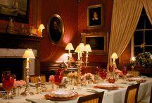 Salle a manger de maison de campagne