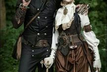 steampunk personages/karakters/style