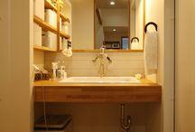 お風呂場、脱衣所の収納やイメージ / 壁紙や収納術、小物イメージも