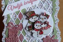 Sneeuw pop plaatjes kaarten