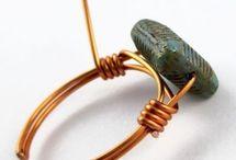 Jewelry wire wrapped