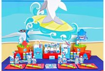 Shark Birthday Party / Beautiful bright and fun shark party birthday ideas. Perfect for shark lovers and the little ones who love big fish!