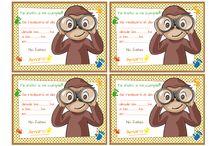 tarjetas del mono jorge