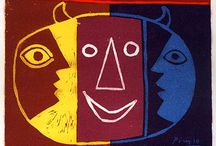 """Pablo Picasso-Poster Gallery / Lithographs from the """"Affiches Originales"""" series. Printed by Mourlot Freres in Paris, 1959"""