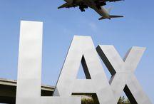 LAX airport,arrive/departure