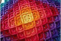 RAINBOW color afghan
