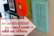 DIY Air Vent Covers / DIY crafts to cover the air vents throughout your house!