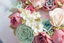 pasteles de flores
